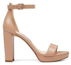 Nine West Suede Ankle-Strap Sandals