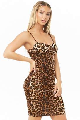 Forever 21 Cheetah Print Bodycon Dress