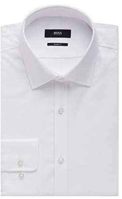 HUGO BOSS Nailhead Cotton Dress Shirt, Sharp Fit Marley US (, 16.5 x 34/35 )