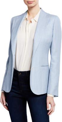 Kiton Tweed Single-Breasted Jacket