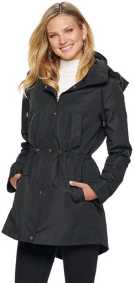 Nine West Women's Hooded Anorak Rain Parka