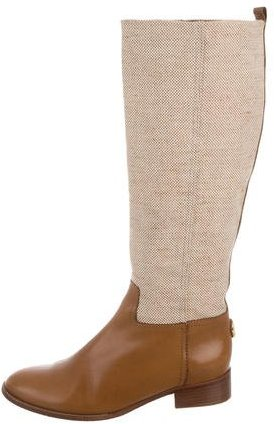 Tory Burch Tory Burch Canvas Knee-High Boots