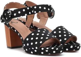 ALEXACHUNG Polka-dot sandals