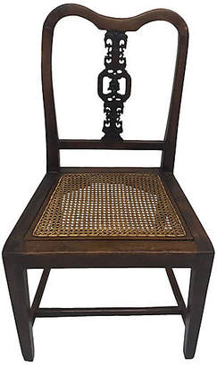 One Kings Lane Vintage 19th Century Chinese Chair w/Cane Seat - Madcap Cottage