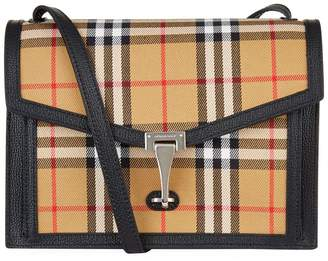 Burberry Small Leather and Vintage Check Cross Body Bag