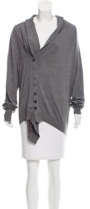 Alexander McQueen Asymmetrical Knit Cardigan