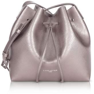 Lancaster Paris Pur & Element Metallic Saffiano Leather Small Bucket Bag