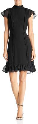 Adrianna Papell Textured Chiffon Ruffle Dress
