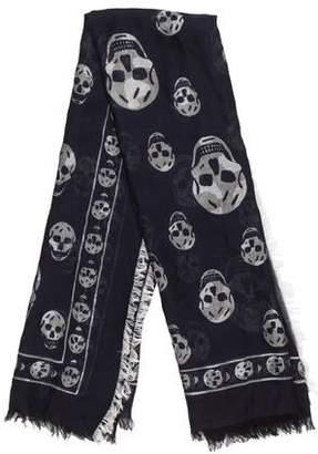 Alexander McQueen Skull Logo Scarf