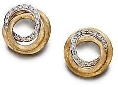 Marco Bicego Women's Jaipur Link Diamond & 18K Yellow Gold Stud Earrings