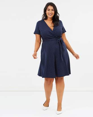 Spot Fit-and-Flare Dress