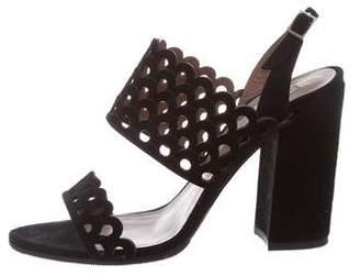 Tabitha Simmons Suede Laser Cut Sandals