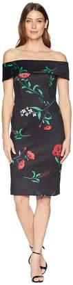 Calvin Klein Off the Shoulder Floral Sheath Dress CD8M37BG Women's Dress
