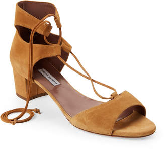 Tabitha Simmons Tallia Camel Suede Ankle Strap Sandals