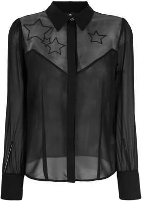 Elisabetta Franchi star sheer panel blouse
