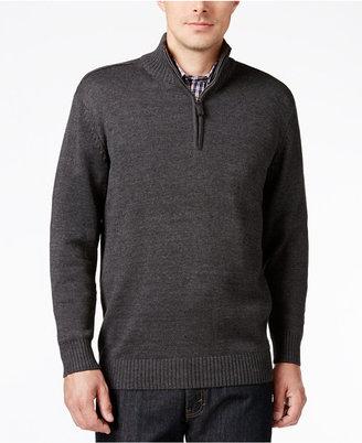 Tricots St. Raphael Men's Quarter-Zip Mock-Collar Sweater $75 thestylecure.com