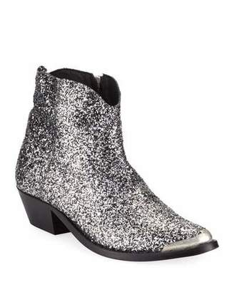 Golden Goose Young Glittered Western Boots