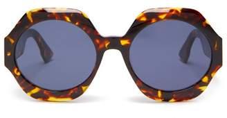 Christian Dior Diorspirit1 Round Frame Acetate Sunglasses - Womens - Tortoiseshell