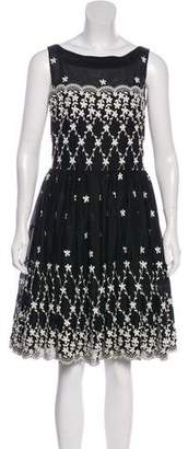 RED Valentino Embroidered Knee-Length Dress