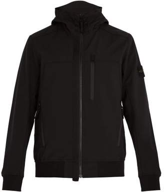Stone Island - Soft Shell R Waterproof Hooded Jacket - Mens - Black