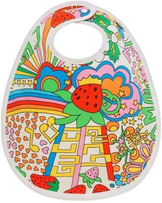 Gucci Baby rainbow pop print bib