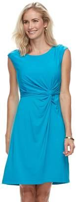 Dana Buchman Women's Twist Knot Fit & Flare Dress