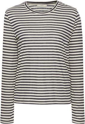 Vince Striped Silk-Blend Top Size: XS