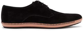 Bottega Veneta Point-toe suede derby shoes