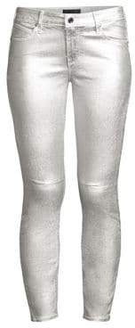 RtA Women's Prince Coated Skinny Jeans - Sound Silver - Size 27 (4)