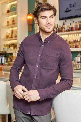 Scotch & Soda Brushed Melange Flannel Button Down Shirt