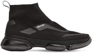 Prada Cloudbust Knit High-Top Sneakers