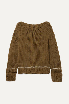 MM6 MAISON MARGIELA Ribbed-knit Sweater - Army green