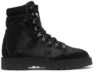 Diemme Monfumo Calf Hair Ankle Boots - Black