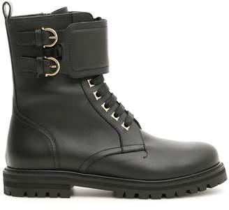 Salvatore Ferragamo Crotone Combat Boots