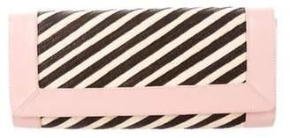 Adriana Castro Straw & Leather-Trimmed Clutch