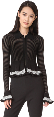 McQ - Alexander McQueen Ribbed Striped Cardigan $450 thestylecure.com