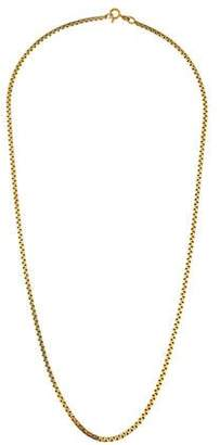 14K Flat Link Chain Necklace