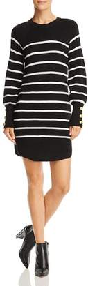 Aqua Striped Rib-Knit Sweater Dress - 100% Exclusive