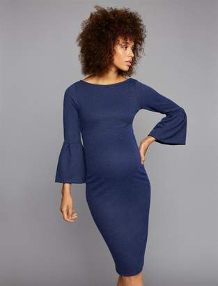 Soon Bell Sleeve Maternity Dress