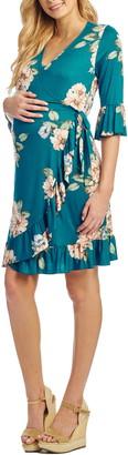 Everly Grey Leilani Maternity/Nursing Wrap Dress
