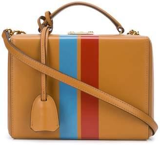 Mark Cross top snap striped satchel