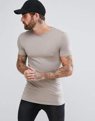 Asos DESIGN Longline Muscle Fit T-Shirt With Crew Neck