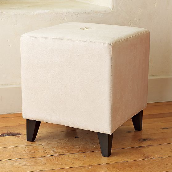 Button-Tufted Stool