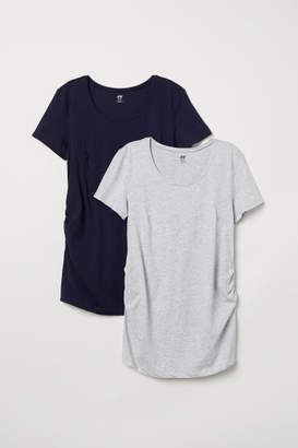 H&M MAMA 2-pack Tops - Blue