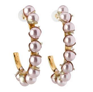 Mignonne Gavigan Delfina Hoop Earrings w/ Swarovski Pearls