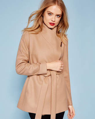 Ted Baker KEYLA Short wrap cashmere-blend coat