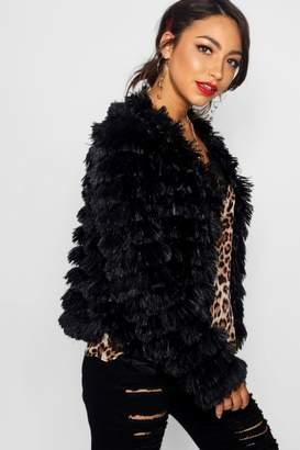 boohoo Erin Shaggy Faux Fur Coat
