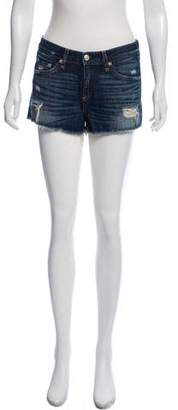 Rag & Bone Low-Rise Denim Mini Shorts