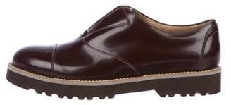 Hogan Leather Slip-On Oxfords