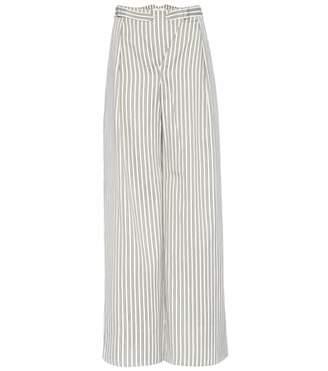 Zimmermann Bowerbird Buckle cotton-blend trousers